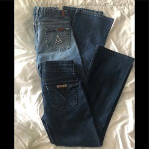 Hudson jeans and 7 for all mankind